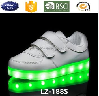 ca4f832b 7 LED Light up simulación zapatillas luminoso niño niña resplandor Venta  caliente zapato casual para niños