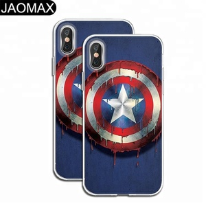 Cartoon Hero Custom Print TPU Cell Phone Case For iphone 7 X, Ultra thin Clear Silicon Phone Cover For iphone 8 6 Plus DIY