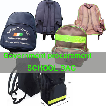 Basic cheap Backpack Government Bid Kids Back To School Bag kit