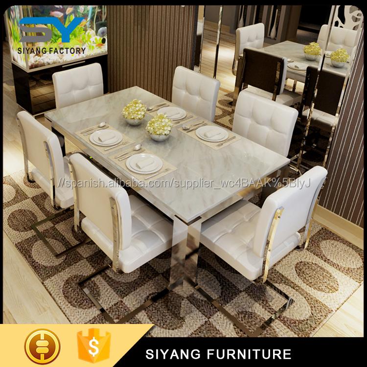 Muebles para el hogar mesa de comedor con 201 # CT031 base de acero para la  venta-Mesas de comedor-Identificación del ...