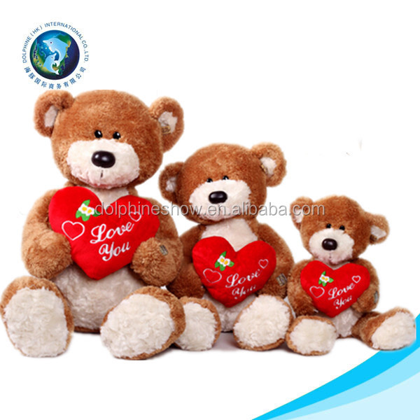 cute plush valentine's day plush purple bear toy red heart teddy, Ideas