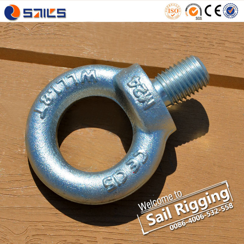Heavy Duty Steel Drop Forged Anchor Concrete Din580 Lifting Eye bolt