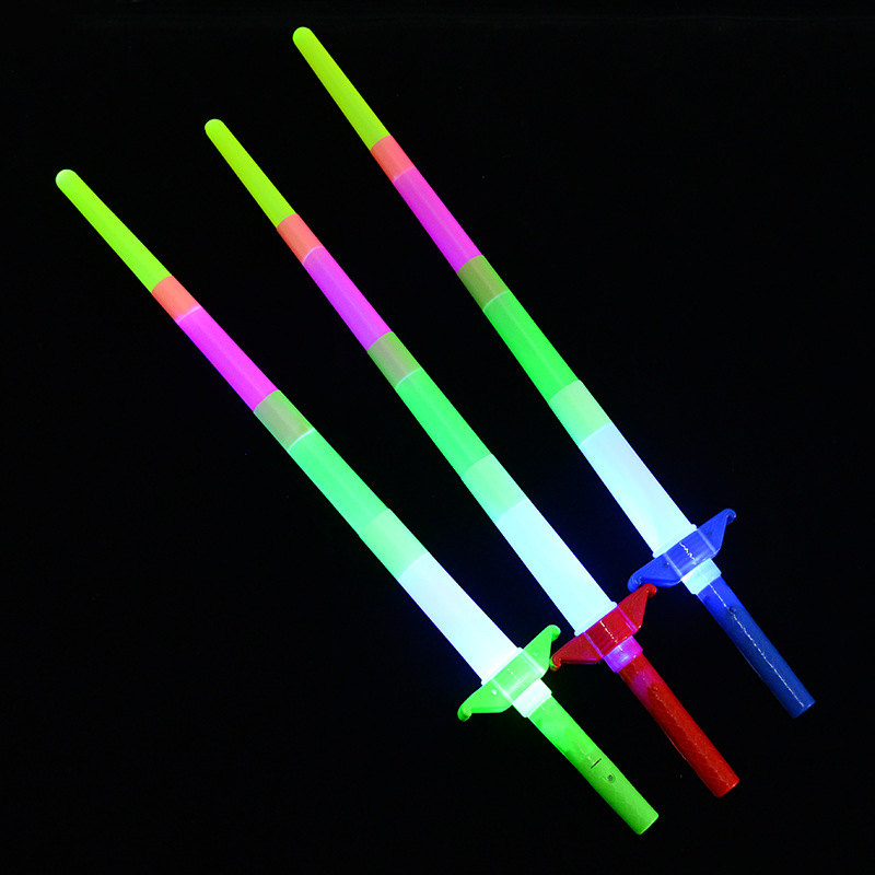 Costumes & Accessories Boy Man Adjustable Extendable Led Glow Stick Sword Light Sticks Concerts Toy Party Glow Wand Weapon Christmas Long Performance Life Novelty & Special Use