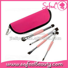 Sofeel 4pcs eye make-up brush kits with zipper bag