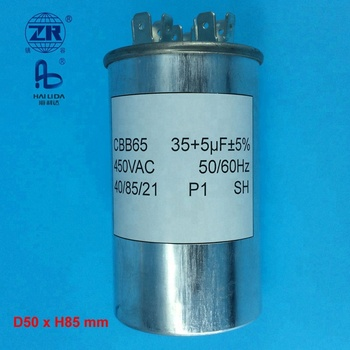 split ac capacitor cbb65 for air conditioner spare part 35+5uf