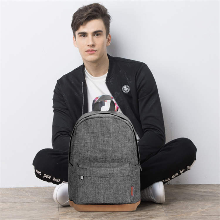 Osgoodway 2020 High Quality Custom Logo Wholesale Korean Style Simple Waterproof Boy School Bag Backpack for Campus University