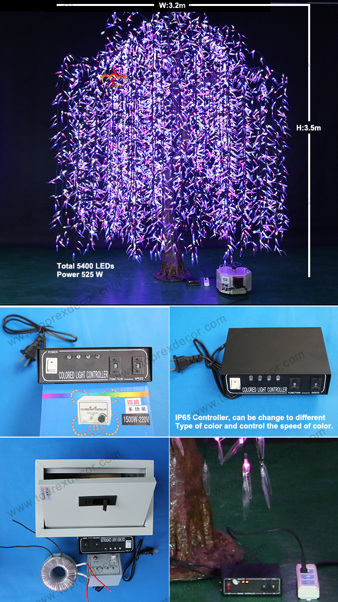 This controller lets you control 4 different branches of lights - Willow Tree Branches Light Willow Tree Led Lights