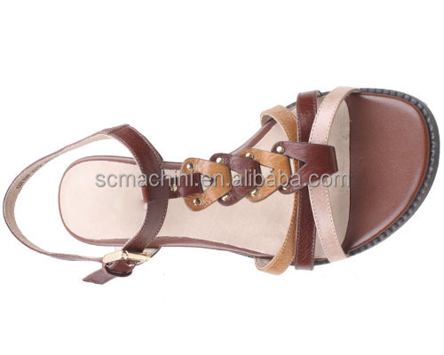 New Design Safety Flat Sandal Latest Design Lady Shoes