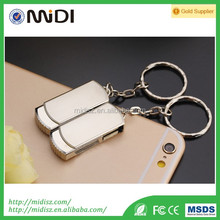 Best promotion giveaways mini metal USB flash drive memorial stick with keychain 2GB