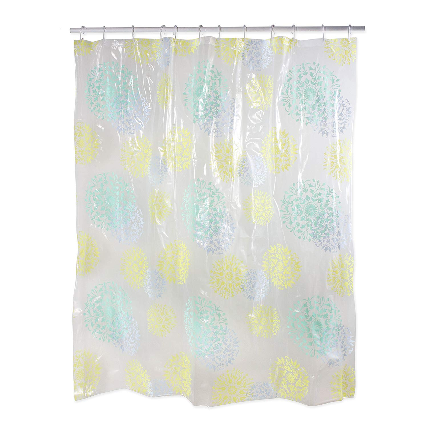 Get Quotations Polyester PEVA Shower Curtain 70x72 Antibacterial And Mildew Resistant Waterproof Water