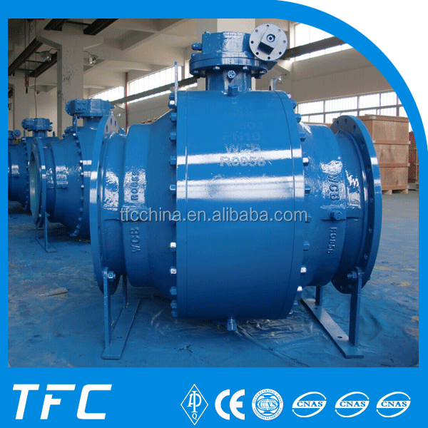 forged steel trunnion mounted 3pc ball valve
