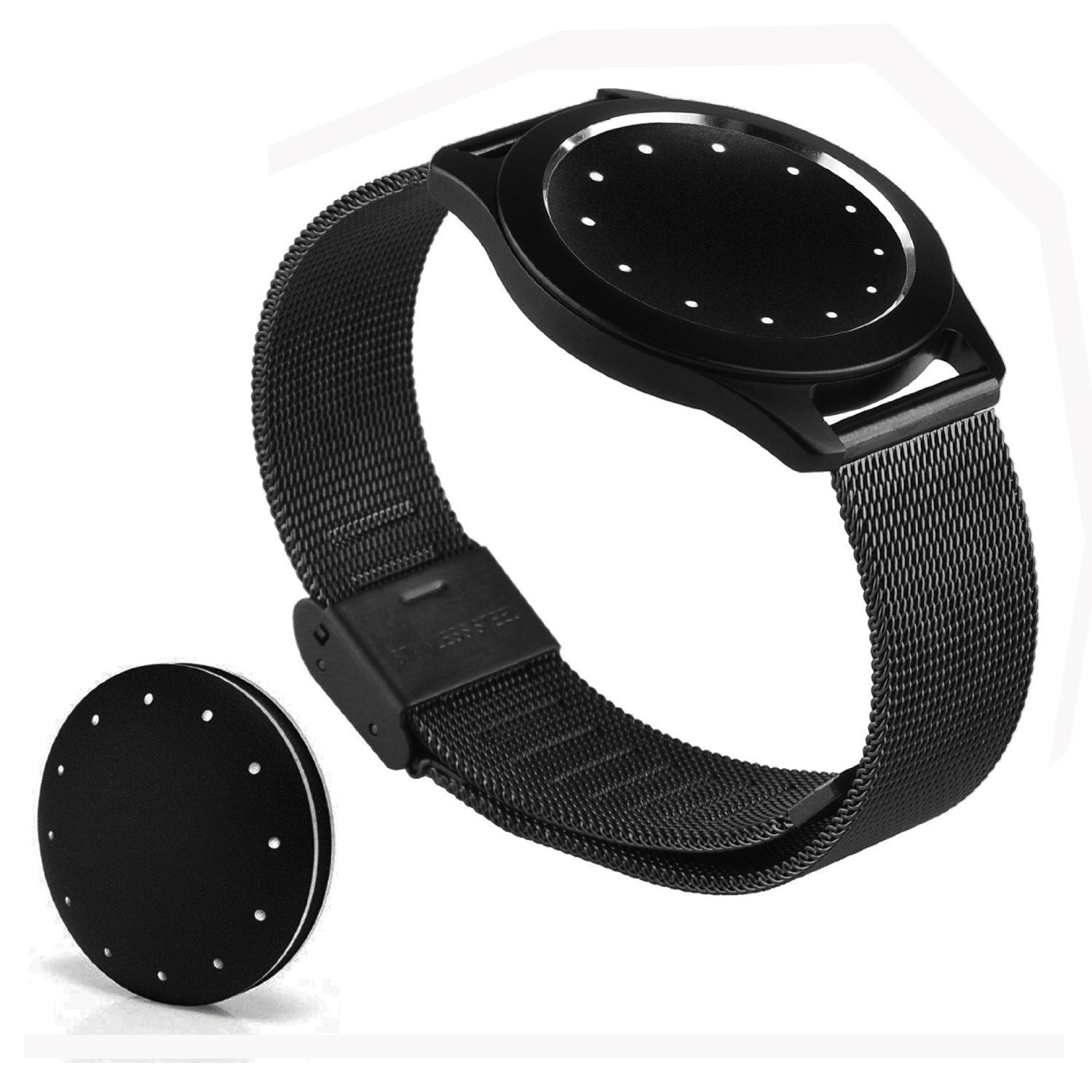Misfit Shine Band Probrother® Milanese Strap Original with Buckle for Activity and Sleep Monitor Misfit Shine Watchbands Smart Watch Watchbands Black