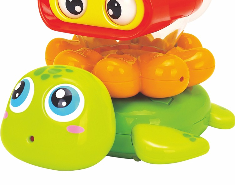 Huile 3112 Stack 'n Squirt Bath Fun baby enjoy bath time& Stacke the toy
