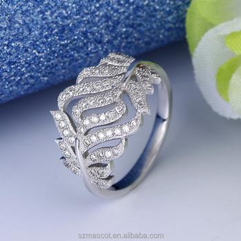 Cheap Price Gay Diamond White Gold Nose Silver Ring Blanks