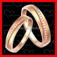 10 carat diamond gold plating engagement couple ring