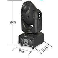 High quality 7 gobo shake led stage light 10W Led Mini Spot Moving Head for christmas party