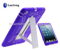 Heavy duty 3 layer cover case for ipad mini tablet/polka dot case for ipad mini silicon case with waterproof function