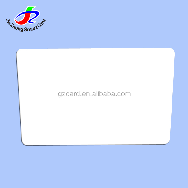 2018 alibaba factory clear credit card size ID white blank plastic cards chip TK4100