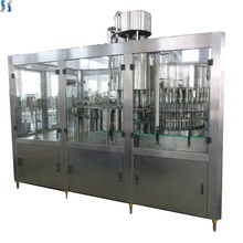 Automatic bottled soda water filling line