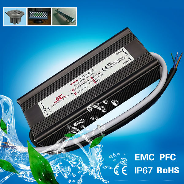 High quality waterproof PFC EMC constant current 32v 2100ma 70w led driver enclosure ip66