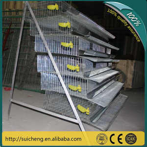 Guangzhou Factory 6 tiers A type automatic quail cages for kenya metal quail cages