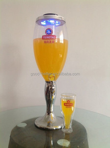 2014 Hot selling 3L Plastic ice tube beer tower/ beer dispenser