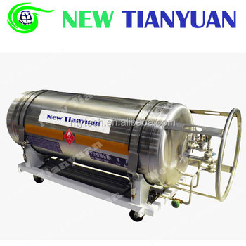 185L Effective Capacity 2.3MPa Working Pressure Liquid Oxygen Cryogenic Cylinder