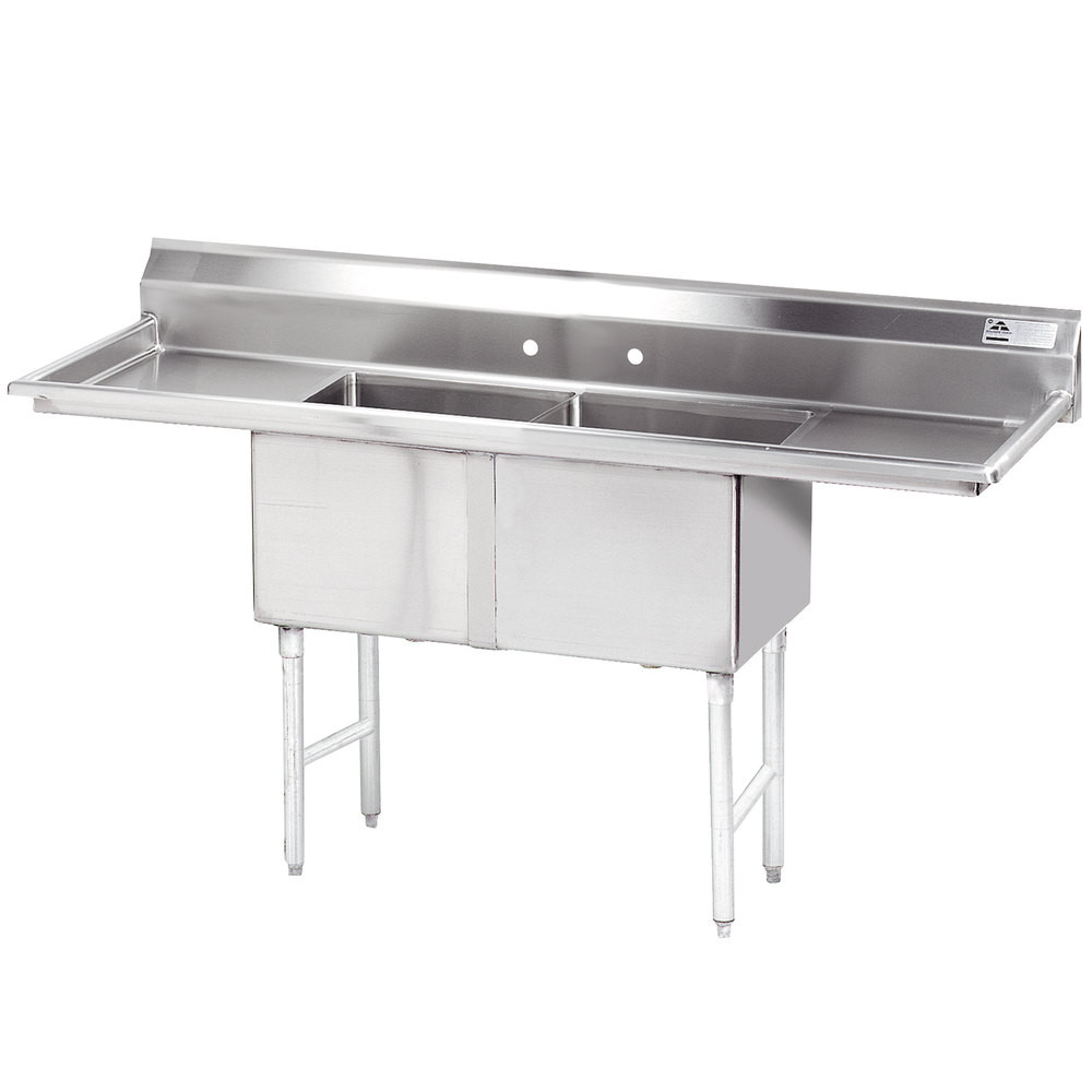 Legs Stainless Steel Commercial Double Bowl Kitchen Sink with ...