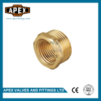 APEX Brass Bushing Reverse Reducing Thread Female Straight Coupling Pipe Fitting