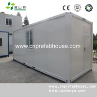Very cheap refugee camp flat pack low cost prefab container house