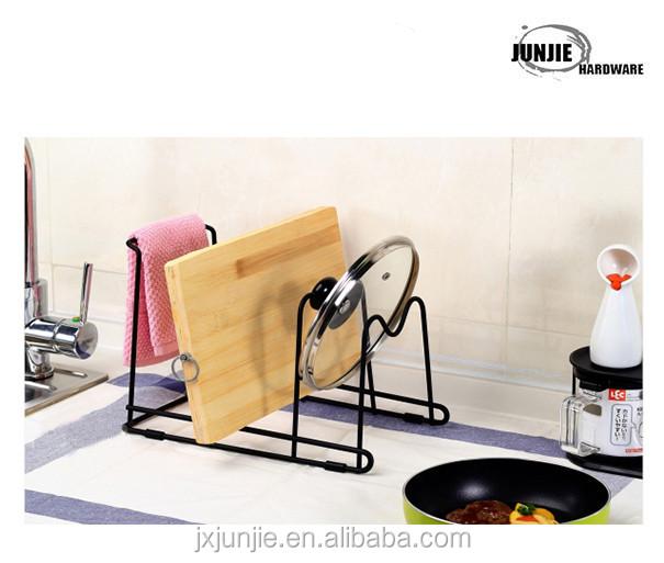 Keuken teller en kast pan organisator plank rack/draad keuken pan ...