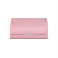 Pink Bread Box, Powder Coated Stainless Steel | Extra Large Bin