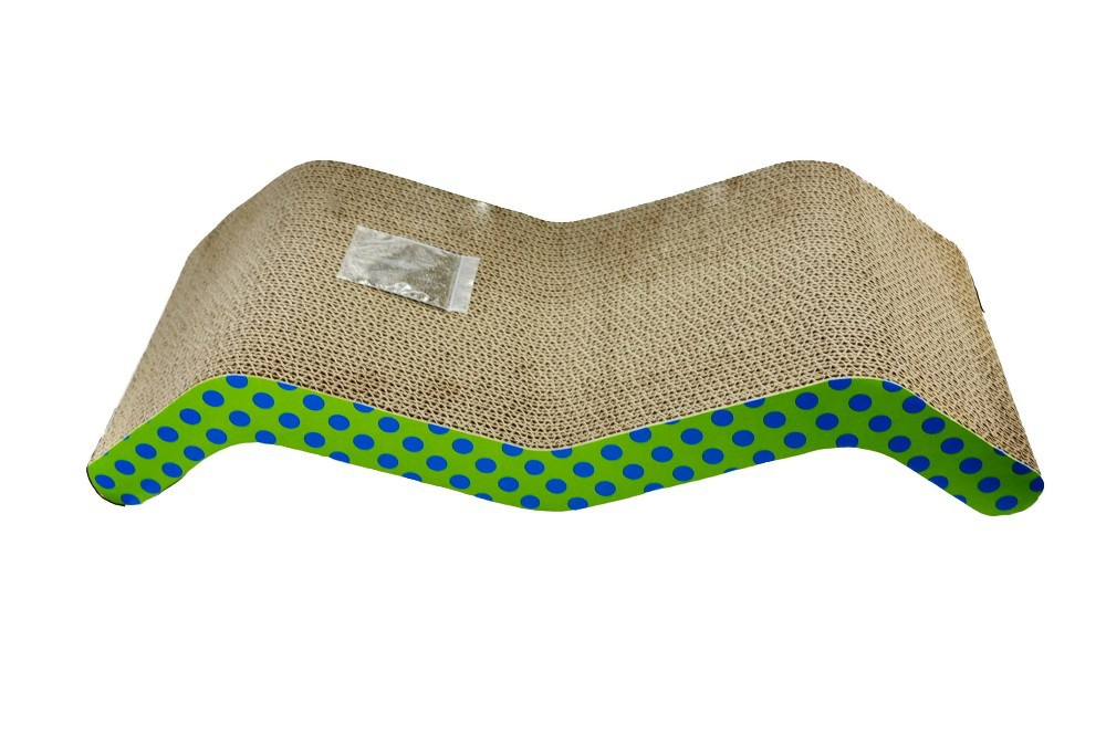 M shaped printed New product corrugated cardboard cat scratcher cat produced