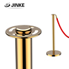 Mirror Polish Rope Queue Barriers, Flat Top Design Stanchion Bollard