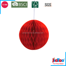 wedding decoration supplies round red honeycomb ball on sale 2016
