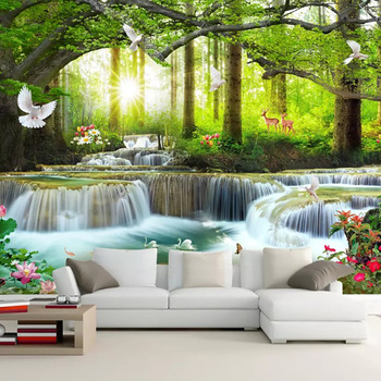 3d Hd 1080 P Wallpaper Pemandangan Indah Dinding Mural Buy 3d Hd