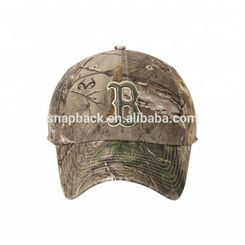 Customize high quality Realtree camo printed hats for big heads 3d embroidery baseball hat