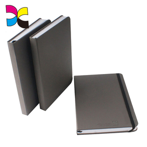 High end hardcover A4 custom leather notebook with elastic band