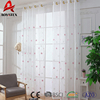 High quality cotton/linen fabric flower design sheer voile plain embroidery curtain