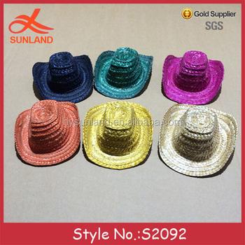 S2092 new cute handmade straw fedora caps mini cowboy hats for dolls  wholesale c1390f4c5e36