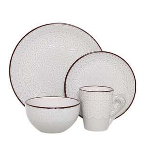 popular ceramic stoneware dinnerware set reactive glaze dinner set