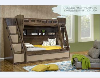 Modern Wooden Bunk Divan Bed With Slide