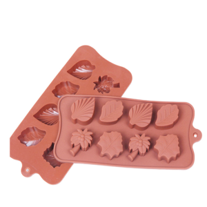 New DIY Custom Flower Silicone Chocolate Brown Chocolate Mold With Logo