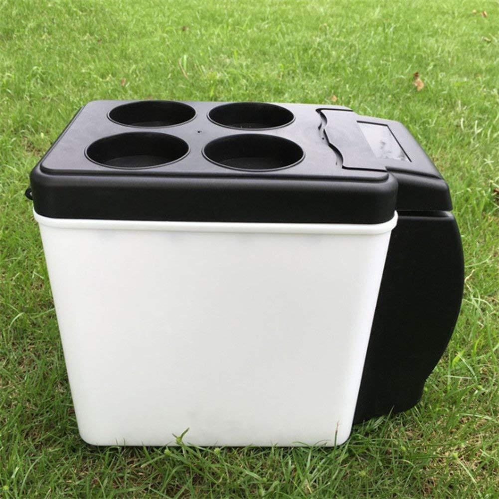 SL&BX Mini kühlteil, Car refrigerator mini fridge car 6l12v black portable retro -fit bedroom,Office or dorm and outdoor-black 25x30x16.5cm(10x12x6inch)