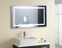 FUAO Bathroom wall mount lighting mirrors with magnifier
