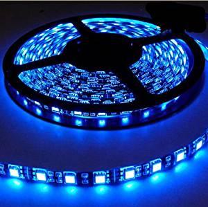 TINNZTES 2M/200CM/6.6feet 120LED 3528 LED strip Light Battery powered waterproof LED strip (Blue)