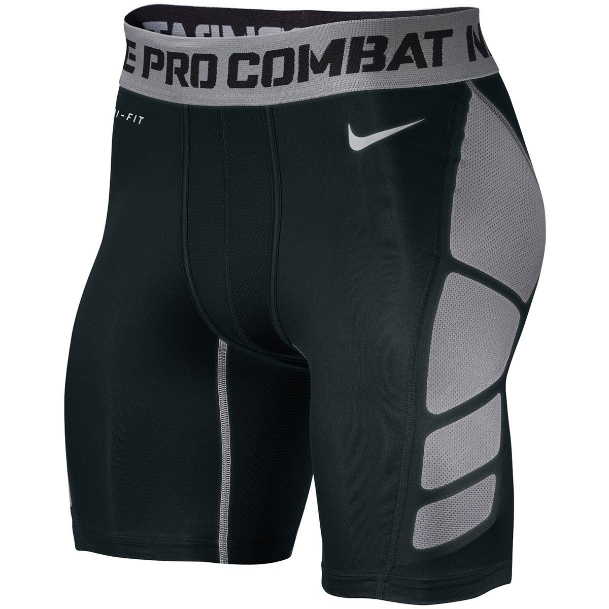 "Nike Men's Pro Combat Hypercool Compression 6"" Shorts 2.0 (S, Black)"
