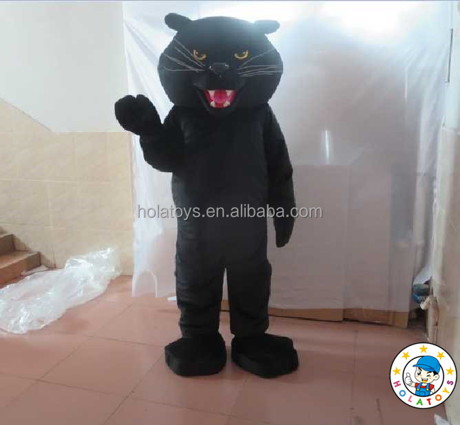 2015 black panther mascot costume/animal mascot costume adult