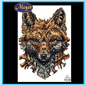 best selling wolf tattoo sticker ,temporary tattoo paper manufacturers