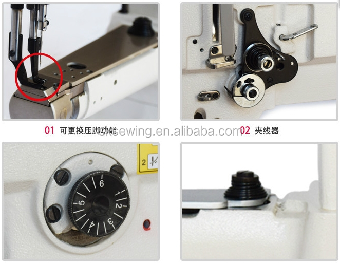 Heavy duty leather cylinder arm lockstitch industrial sewing machine for handbag
